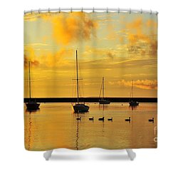 Pure Michigan Gold Shower Curtain