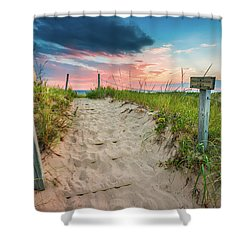 Shower Curtain featuring the photograph Pure Michigan Sunset by Sebastian Musial