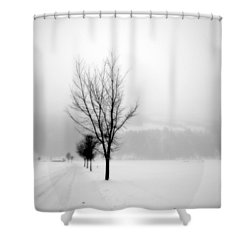 Pure White II Shower Curtain
