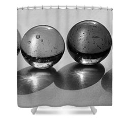 Purie Class Portrait Bw Shower Curtain by Mary Bedy