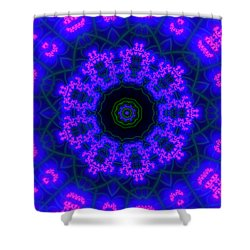 Purple 9 Lightmandala Shower Curtain