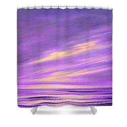 Purple Abstract Sunset Shower Curtain