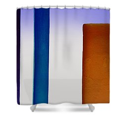 Purple And Blue Lines Shower Curtain