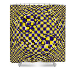 Purple And Yellow Sphere Untitled Shower Curtain