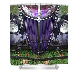 Purple Antique Ford Shower Curtain by Kathy M Krause