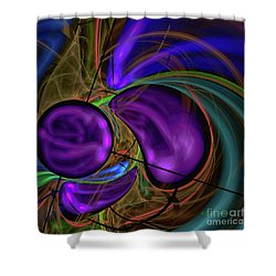 Shower Curtain featuring the digital art Purple Anyone by Deborah Benoit