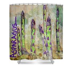 Purple Asparagus Shower Curtain by Kim Nelson