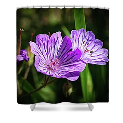 Purple Attraction Shower Curtain