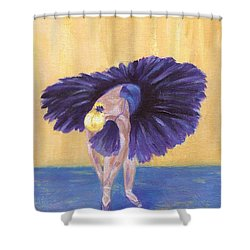 Shower Curtain featuring the painting Purple Ballerina by Jamie Frier
