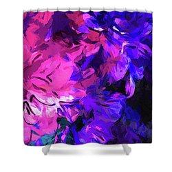 Purple Behind Pink Shower Curtain
