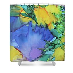 Purple Bird Of Paradise Shower Curtain