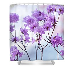 Shower Curtain featuring the photograph Purple Blue Romance by Jenny Rainbow