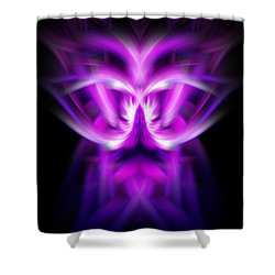 Purple Bug Shower Curtain by Cherie Duran