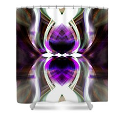 Purple Butterfly Shower Curtain by Cherie Duran
