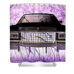 Purple Cadillac Shower Curtain by Julie Niemela