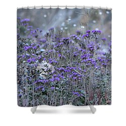 Shower Curtain featuring the photograph Purple Canyon  by Suzanne Oesterling