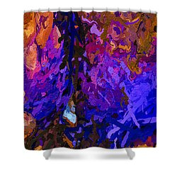 Shower Curtain featuring the painting Purple Cave by Joan Reese
