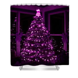 Purple Christmas Shower Curtain by Lori Deiter