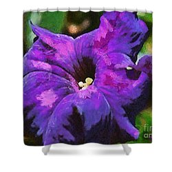 Shower Curtain featuring the painting Purple Color Of Royalty by Dragica  Micki Fortuna