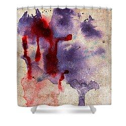 Purple Color Splash Shower Curtain