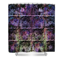 Purple Criss Cross Wings Shower Curtain
