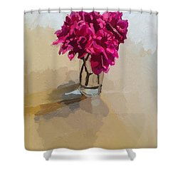 Purple Dahlias Shower Curtain