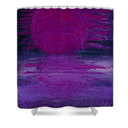 Shower Curtain featuring the painting Purple Dawn by Ania M Milo