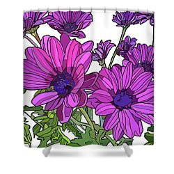 Purple Days Shower Curtain