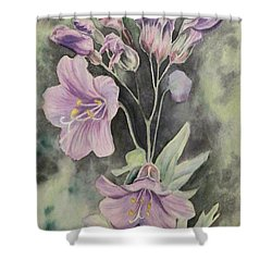 Purple Delight Wildflowers Shower Curtain