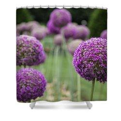 Shower Curtain featuring the photograph Purple Depth by Jason Moynihan