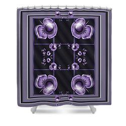 Purple Dimensions Shower Curtain