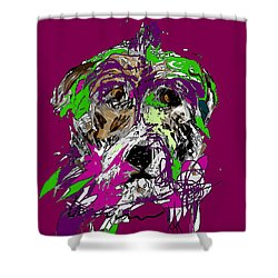 Purple Dog Shower Curtain