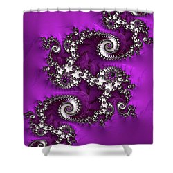 Purple Dragon Shower Curtain