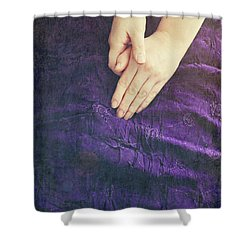 Purple Dress Shower Curtain