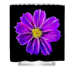 Purple Electric Shower Curtain