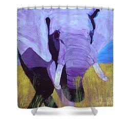 Purple Elephant Shower Curtain