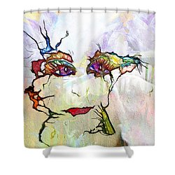 Purple Eyed Nymph Shower Curtain