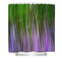 Purple Flames Shower Curtain