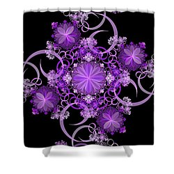 Shower Curtain featuring the photograph Purple Floral Celebration by Sandy Keeton
