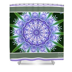 Purple Floral Wheel Shower Curtain