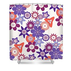 Purple Flower Fantasy Shower Curtain by Methune Hively