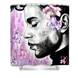 Purple Flower Rain  Prince, Roger Nelson Shower Curtain