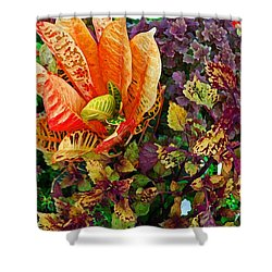 Purple Flowers Shower Curtain by Michael Thomas