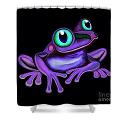 Shower Curtain featuring the painting Purple Frog  by Nick Gustafson