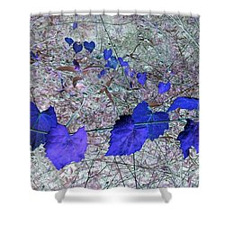 Purple Garland Shower Curtain