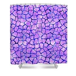 Purple Giraffe Print Shower Curtain
