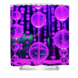 Purple Glass Shower Curtain