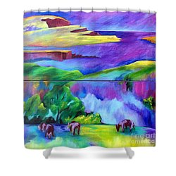 Purple Graze Shower Curtain