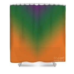 Purple, Green And Orange Shower Curtain