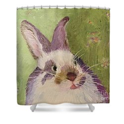 Purple Hare Shower Curtain